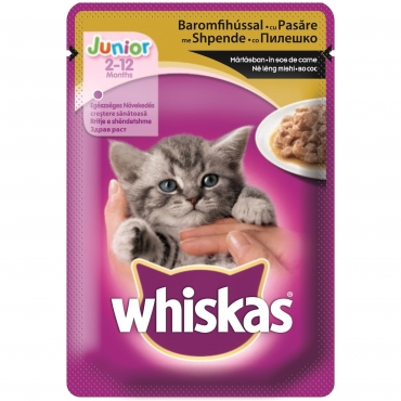 WHISKAS PLIC JUNIOR/PASARE 100 GR