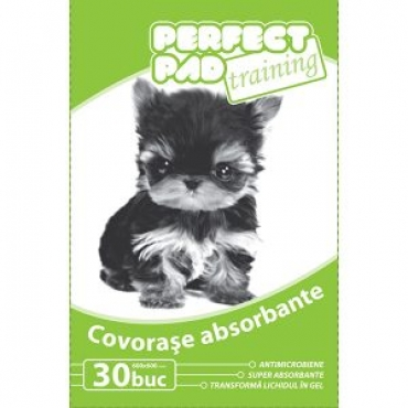 Covorase absorbante pentru caini, Perfect Pad Training, Advance, 60x60, 30 buc