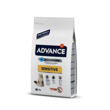 Hrana uscata pisici cu probleme digestive, cu somon, Advance Cat Sensitive Adult, , 10 kg