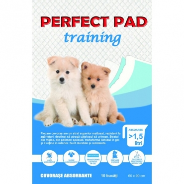 Covorase absorbante pentru caini, Perfect Pad Training, Advance, 60x90, 15 buc